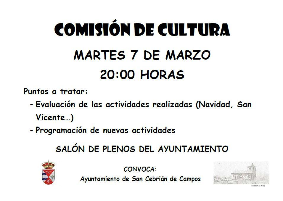 Comisión de cultura