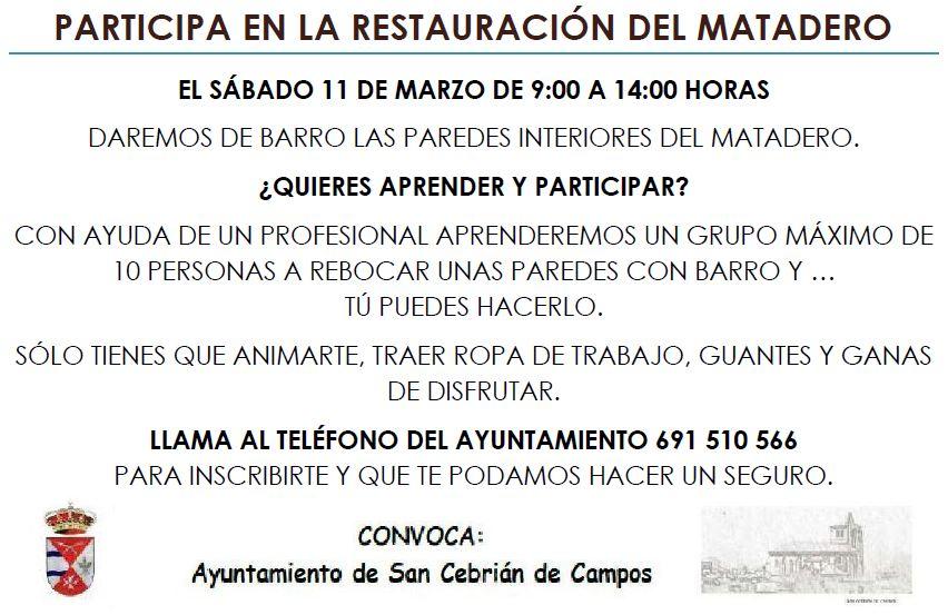 PARTICIPA EN LA CONSTRUCCIÓN DEL MATADERO
