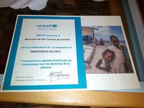 UNICEF en San Cebrian de Campos