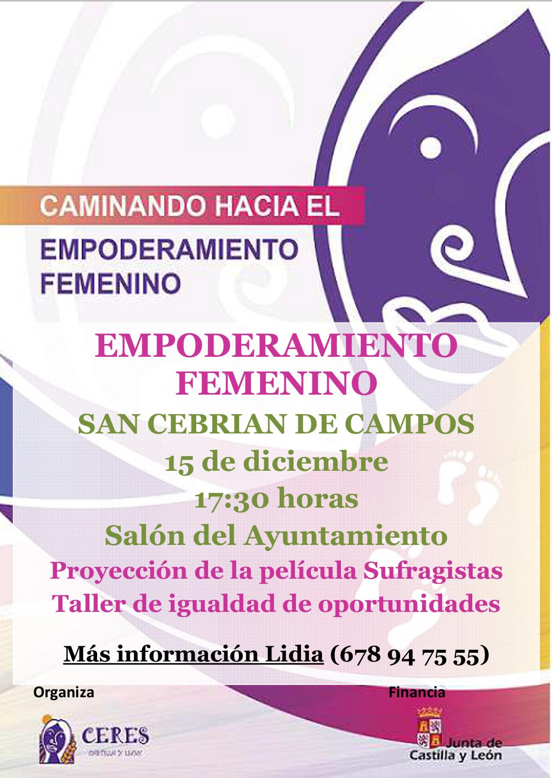 Taller de Empoderamiento Femenino este Viernes 15 de Diciembre