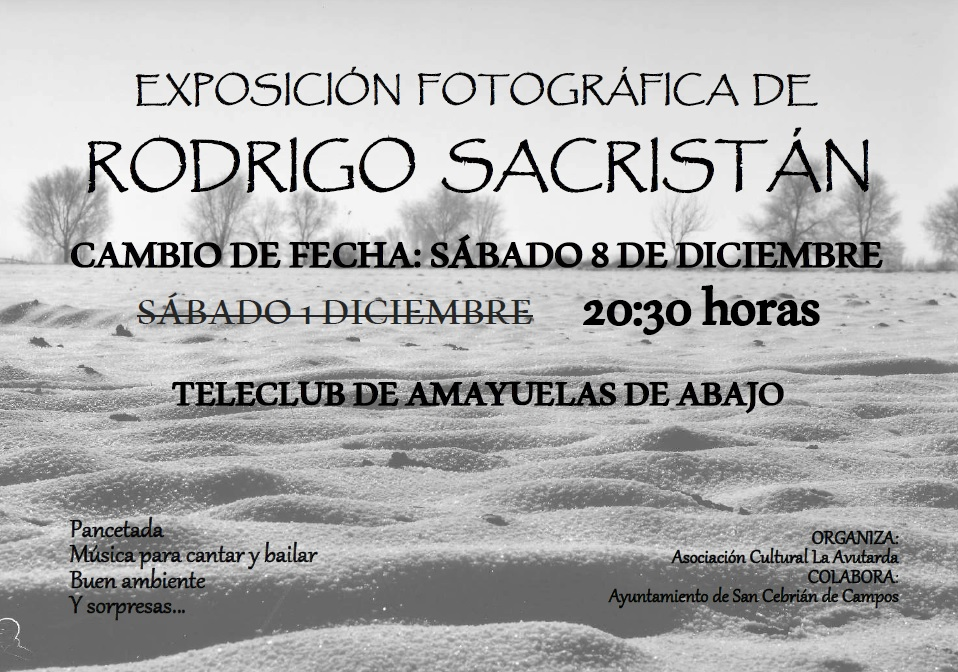 Cambio de Fecha en la expo de Rodrigo